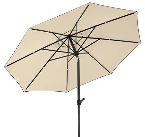 Schneider-Schirme rund Sonnenschirm Adria, 8-teilig, Natur, 300 x 300 x 260 cm