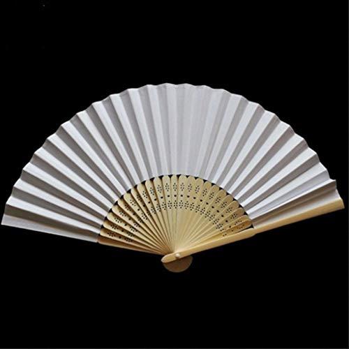 it TianranRT Muster Falttanz Hochzeit Party Lace Silk Folding Hand Solid Color Fan ()