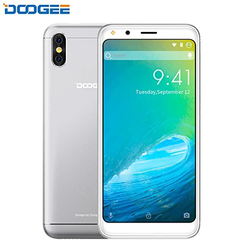 Smartphone Ohne Vertrag, DOOGEE X53 3G Dual Sim Android 7.0 Günstig Handy, 5.3 Zoll FHD MT6750T Processor Smartphones, 1GB RAM + 16GB ROM, Dual 5.0MP Rear Kamera, 2200mAh, Dual Sim (Silber) (Hintere Isolierung)