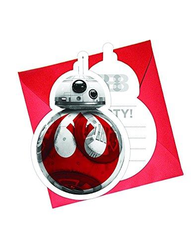 Generique 6 Einladungskarten + Umschläge Star Wars Die letzten Jedi Preisvergleich