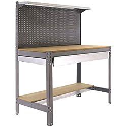 Simonrack - Etabli 3 niveaux/1 tiroir 875 Kg L. 1510 x Ht. 1445 x P. 610 mm KIT SIMONWORK BT3 BOX 1500 GRIS - 338100021156012 - Simonwork