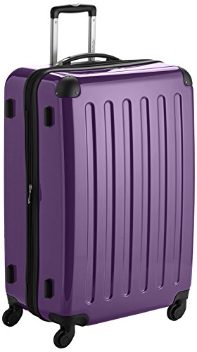 HAUPTSTADTKOFFER – Alex – Set of 3 Hard-side Luggages Glossy Suitcase Hardside Spinner Trolley Expandable (S, M & L) Purple
