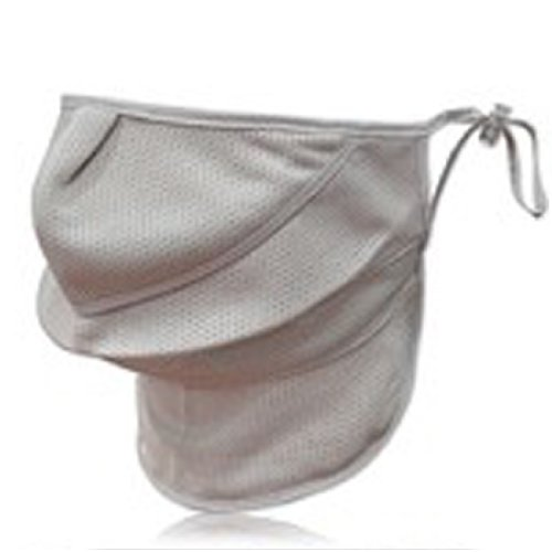 Preisvergleich Produktbild Golf UV-blockierende Maske Schutz Neck Gesicht Sportbekleidung KZ-01 (grau)