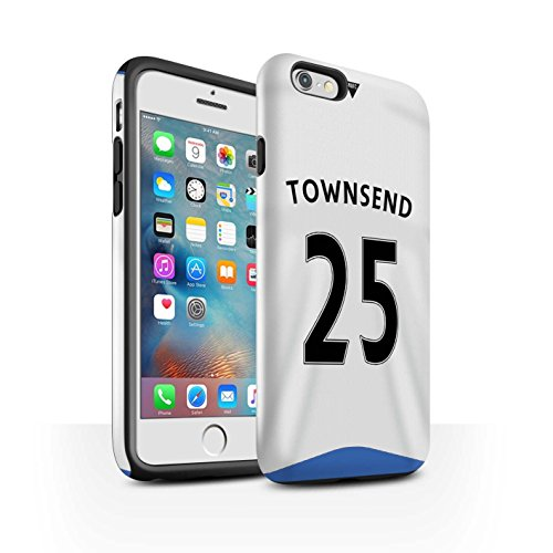 Offiziell Newcastle United FC Hülle / Glanz Harten Stoßfest Case für Apple iPhone 6+/Plus 5.5 / Wijnaldum Muster / NUFC Trikot Home 15/16 Kollektion Townsend