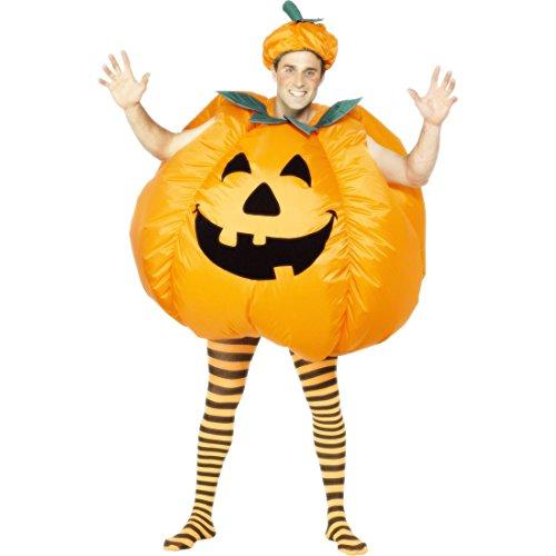 Amakando Kürbiskostüm Halloween Kürbis Kostüm Halloweenkostüm aufblasbar Pumpkin -