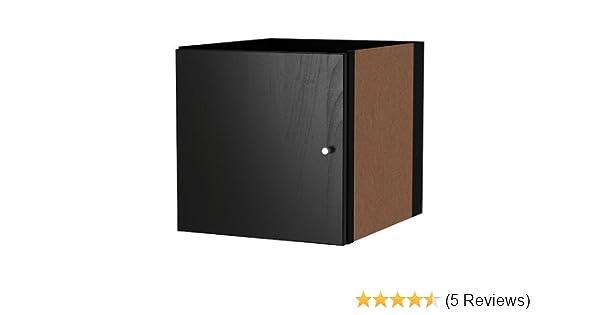 auch EXPEDIT IKEA KALLAX Einsatz mit Tür schwarz Regal Aufbewahrung NEU!
