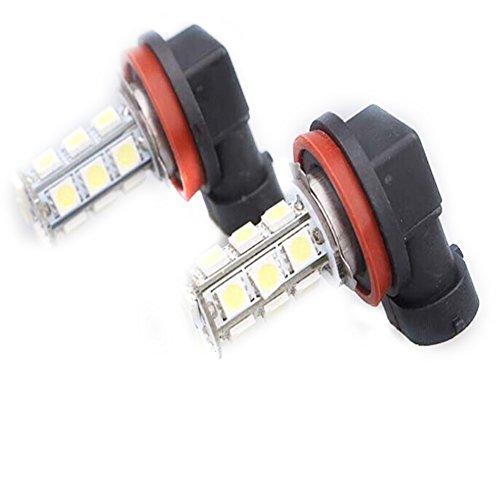 Preisvergleich Produktbild Janecrafts 2x H8 18 LED 5050 SMD Weiß Nebelscheinwerfer Auto Nebel Lampen Foglight Lampen DC 12V