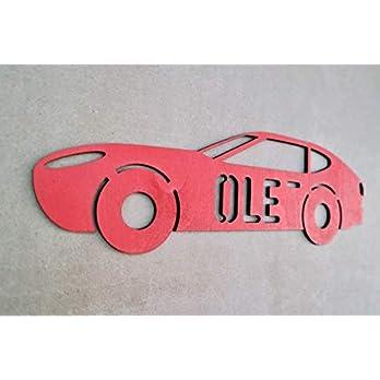 Individuelles Türschild Holz Auto-Motiv