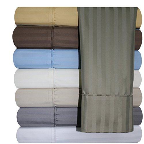 620-thread-count-Bettlaken-Set, faltenfrei Baumwollmischung Blatt, satin gestreift, deep Pocket