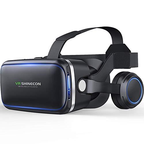 3D VR Brille für Handy, Video Movie Game Brille Virtuelle Realität Headset Kompatibel mit iOS, Android und Anderen Handys innerhalb von 4.0-6.0 Zoll - G04E,A