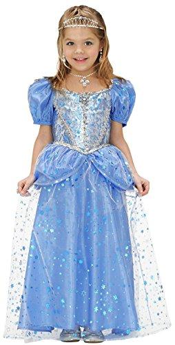 Widmann 68987 - Kinderkostüm Prinzessin Fee Kleid, Gröߟe 140, (Eisprinzessin Ideen Kostüm)