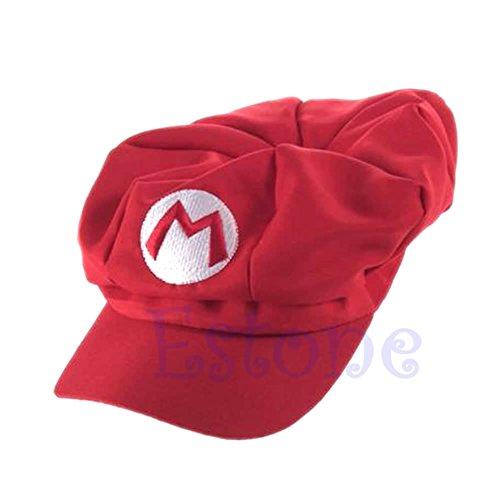 JAGETRADE Sun cappello Outdoor pesca caccia Desert hawaiana Luigi super Mario Bros Cosplay adulti Taglia cappello berretto da baseball costume Red
