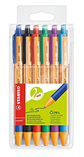 STABILO pointball Kugelschreiber 6er Pack mit 6 verschiedenen Farben (Stifte Mit Tinte Türkis)