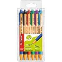 STABILO pointball - Pochette de 6 stylos bille rechargeables - Coloris assortis