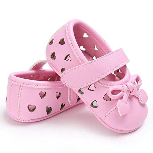 Babyschuhe, Switchali Baby schuhe mädchen Bowknot-lederner Schuh-Turnschuh Anti-Rutsch weiches Solekleinkind für 0-18 Monate Rosa