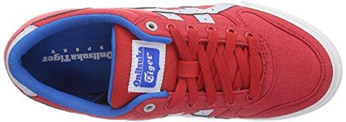 Onistuka Tiger Aaron, Chaussures de basket-ball mixte adulte Rouge (2310-Fiery Red/Soft Grey)