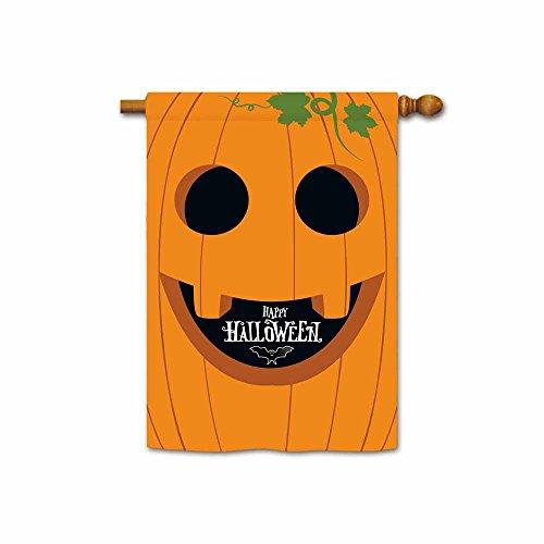 Kafepross Happy Halloween Jack O Laterne Garten Flagge Kürbis Maske und Schwarz Fledermaus Home Decor Banner Large House flag-28x40 inch 14 (Halloween-die Maske Designs Weiße)