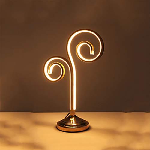 LED Schreibtischlampe, geometrische Art Deco Tischlampe Augenschutz neben Schlafzimmer Schreibtischlampe mit Acrylschirm, LED 32W, W11.4 \'\' * H18 \'\',warmlight