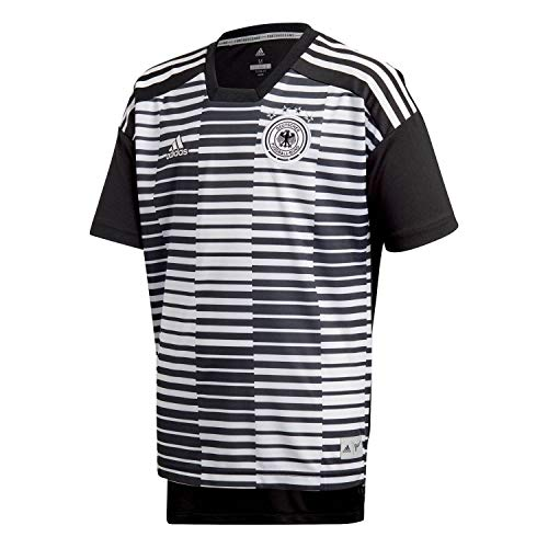 adidas Kinder DFB Pre-Match Shirt T, White/Black, 128