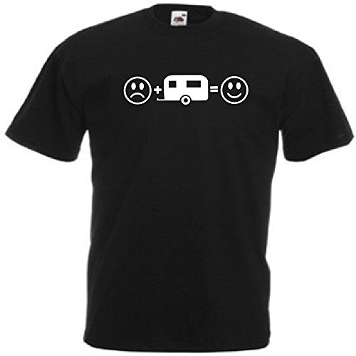 Loopyparrot Caravan T-Shirt Funny Smiley face 585