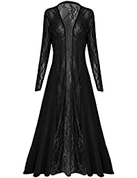 CELEB LOOK D35 Celebmodelook ® New Women Ladies Long Open Soft Crochet Floral Lace Plus Size Cardigan