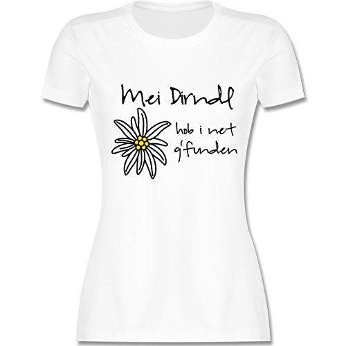 Oktoberfest Damen - Dirndl net g'funden - Shirt statt Dirndl - M - Weiß - L191 - Damen Tshirt und Frauen T-Shirt -