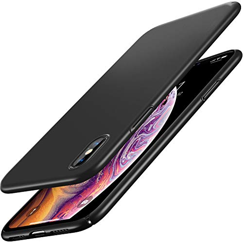 RANVOO Hülle für iPhone XS, Dünn Matt Schlank Hart Ultra Slim PC Anti-Fingerabdruck Leicht Case Schutzhülle Schale Cover Handyhülle für iPhone XS, 5,8 Zoll 2018, Schwarz