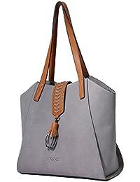 Kadell Borse a mano in cuoio opaco di progettato con borsa a spalla delle nappe