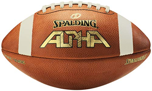Spalding Alpha Lederfußball, Light Brown/Red, Pee Wee