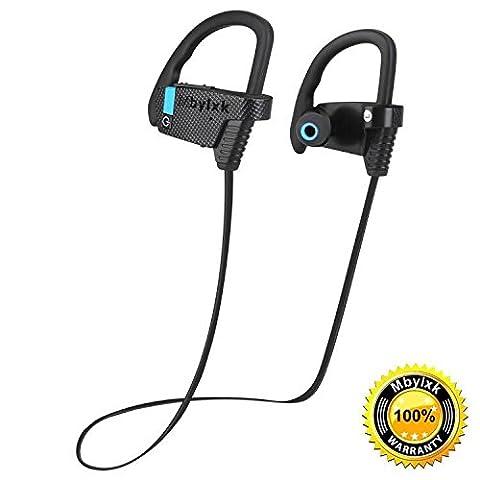Bluetooth Kopfhörer Mbylxk 4.1 In Ear Ohrhörer Wireless Sports Headphones In Ear Headphones Stereo Headset Wireless Earphones,IPX4 Waterproof,für iPhone,Samsung Huawei Series (schwarz)