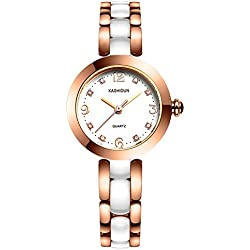 Lady ceramic watch/Fashion quartz watch/ simple waterproof watch-A