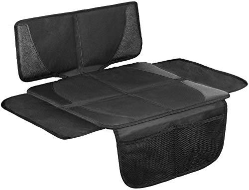 LIONSTRONG Kindersitzunterlage, ISOFIX geeignete Unterlage für Kindersitze, Sitzschoner zum Schutz Ihrer Autositze (Klein Schwarz)