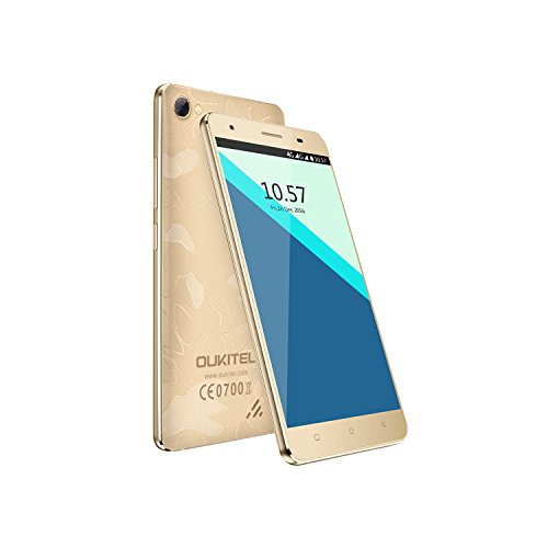 4G Smartphone, OUKITEL C5 Pro 5.0' HD Display Quad Core up to 1.3GHz WCDMA & GSM & FDD-LTE Android Mobile Phones Quick Charging (Gold)