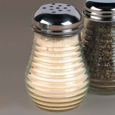 American Metalcraft Beehive Glass 6 Oz Cheese Shaker w/ Metal