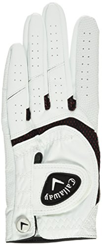 Callaway SynTech Golf Glove Mens White Left Hand (For Right Handed Golfers) Large Mens White Left Hand (For Right Handed Golfers) Large