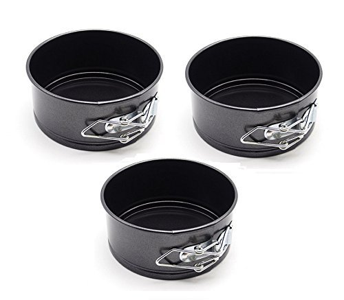 Astra Shop Aluminiumguss Bakeware Mini Springform Pfannen 4 von 2, Set von 3 Springform Cake Pan Set