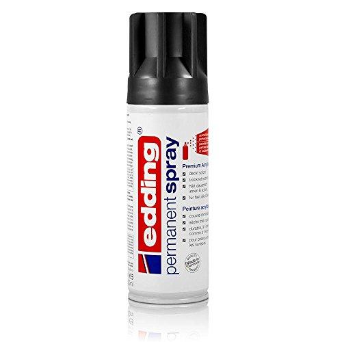 edding® permanent spray, glänzend Tiefschwarz