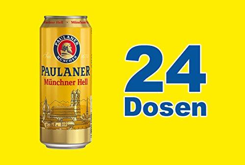 Paulaner Hell Original Münchener 24 x 0,5l Dose inkl. 6,00 Euro Pfand EINWEG Münchner Bier