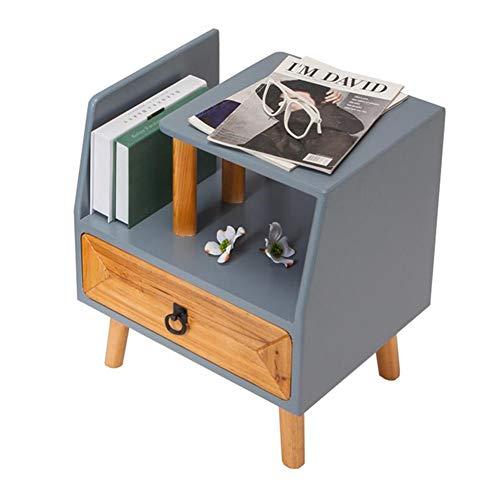Tische CJC Beistelltische,Tabellen, Nachttisch Schublade, Schlafzimmer Seite Bedside Tabelle, Modern Design, Robust Einfach Versammlung Beistelltische (Farbe : Gray 1) - Schlafzimmer Modernen Beistelltisch