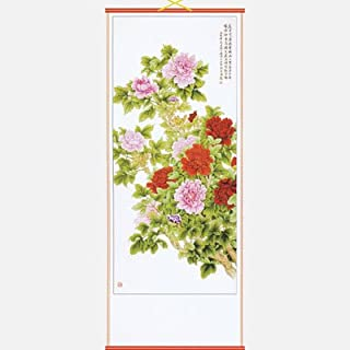 Peonies Chinese Scroll by Asia Dragon