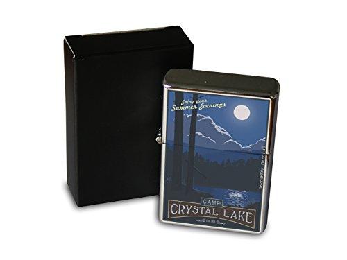 Chrom Sturm Feuerzeug Benzin Bedruckt Welt Reise Camp Crystal Lake Sommerabende Mond Camp Crystal Lake