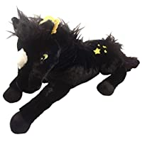 20.5 Inch Black Horse Soft Toys with Stars - Girls Toys