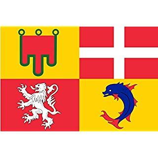 magFlags Flagge: Large Region Auvergne-Rhône-Alpes | French Administrative Region Auvergne-Rhône-Alpes | Région Auvergne-Rhône-Alpes | Region administrativa francesa Auv&egrav