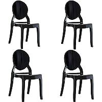 Amazon.it: sedia policarbonato - Nero: Casa e cucina