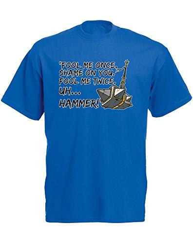 fool-me-once-imprime-des-hommes-t-shirt-bleu-blanc-transfert-2xl-119-124cm