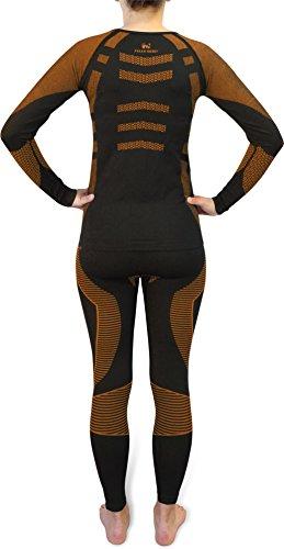 Sport-Funktionsunterwäsche-Set für Damen und Herren von POLAR HUSKY® Super Active Ride/Orange