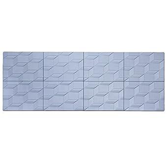 Panelados - Panel decorativo 3D (Mod. Cubo) Decoración pared autoadhesiva. 8 pcs. 30 x 40 cm. Revestimiento pared y techo. DIY montaje fácil. (Azulete)