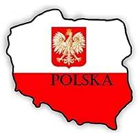 POLEN Schild POLNISCHE Polska Vinyl Sticker Aufkleber 50mm x4