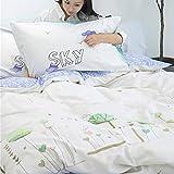 Kexinfan Bettbezug Baumwolle Vierteilige Baumwolle Bettbezug Bettwäsche Bettwäsche, Bett Typ, Wald, 1,8 M (6 Fuß) Bett