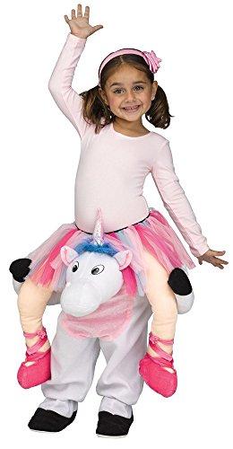 (shoperama Step-In Huckepack Kostüm Ballerina auf Einhorn für Kinder Straßenkarneval Mädchen Trag Mich, Kindergröße:XL - 4 bis 6 Jahre)